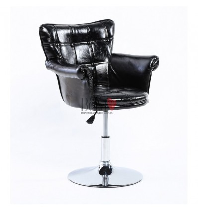 Glamourous Black leather Beauty chair. Beauty Chair Black BFHC804B