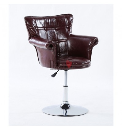 Glamourous Brown leather Beauty Chair Brown BFHC804B