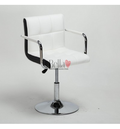 Vibrant white Beauty room or Salon chair. Bella Furniyure Chair white BFHC811N