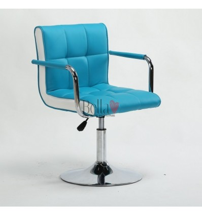 Vibrant turquoise Beauty room or Salon chair. Bella Furniture Chair turquoise BFHC811N