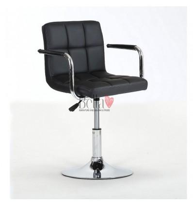 Elegant black salon chairs. bella furniture Chair Black BFHC8325N