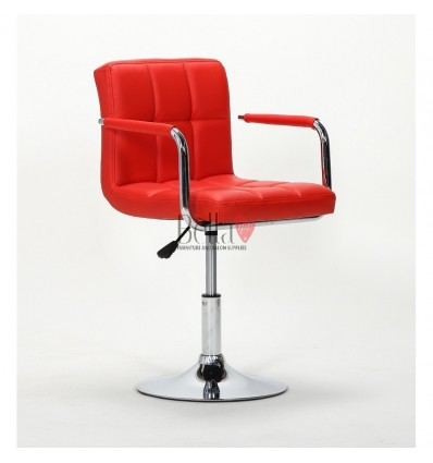 Elegant red salon chairs. bella furniture Chair Red BFHC8325N