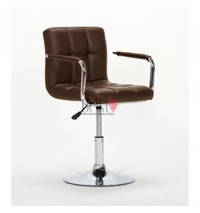 Elegant black salon chairs. bella furniture Chair Brown BFHC8325N