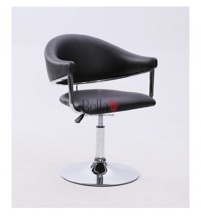 Black leather chair for beauty salon and hairdressers. Chair BFHC8056