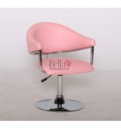 Pink leather chair for beauty salon and hairdressers. Chair BFHC8056