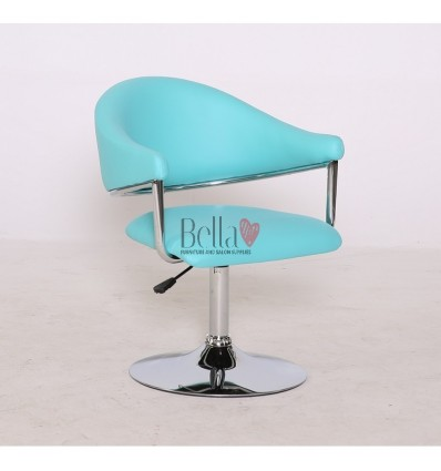 Turquoise leather chair for beauty salon and hairdressers. Chair BFHC8056