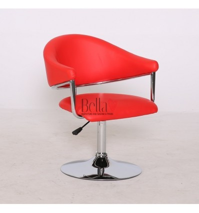 Red leather chair for beauty salon and hairdressers. Chair BFHC8056