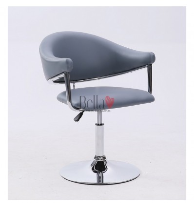 Grey leather chair for beauty salon and hairdressers. Chair BFHC8056