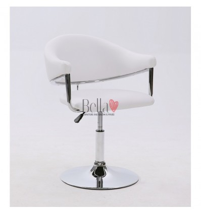 White leather chair for beauty salon and hairdressers. Chair BFHC8056