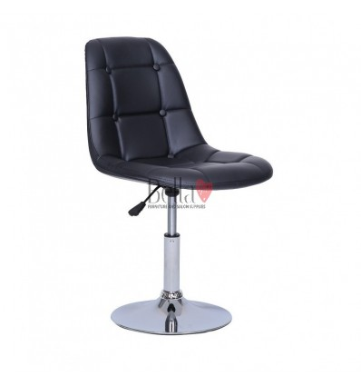 Black Swivel Chairs for beauty salons. Beautiful black swivel chairs Ireland. Bella furniture Ireland Black Chair BFHC1801N