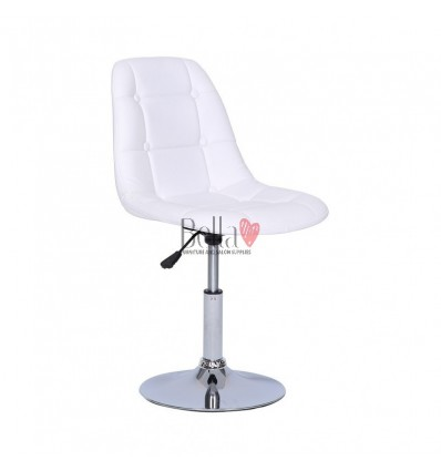 White Swivel Chairs for beauty salons. Beautiful white swivel chairs Ireland. Bella furniture Ireland white chair BFHC1801N