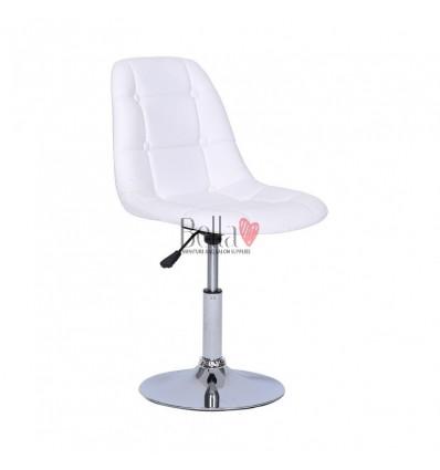 White Swivel Chairs for beauty salons. Beautiful white swivel chairs Ireland. Bella furniture Ireland white chair BFHC1801N
