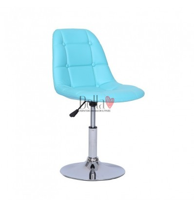 Turquoise Swivel Chairs for beauty salons. Beautiful turquoise swivel chairs Ireland. Bella furniture Ireland Turquoise Chair BF