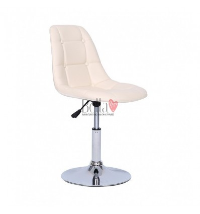 Cream Swivel Chairs for beauty salons. Beautiful cream swivel chairs Ireland. Bella furniture Ireland Cream Chair BFHC1801N