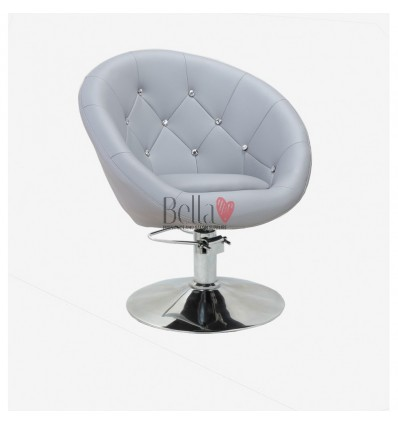Grey Hydraulic chairs for hairdresser salons Ireland. Bella Furniture Grey chair BFHC8517H