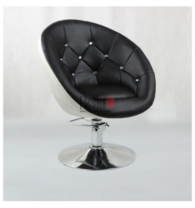 White-Black Hydraulic chairs for hairdresser salons Ireland. Bella Furniture chair BFHC8517H
