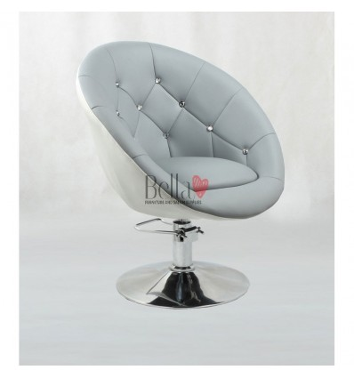 Grey Hydraulic chairs for hairdresser salons Ireland. Bella Furniture chair BFHC8517H