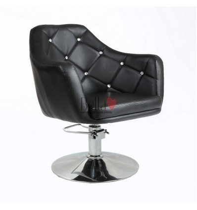 Black Hydraulic chair for beauty salon. Black Hydraulic chairs for hairdresser BFHC8517H