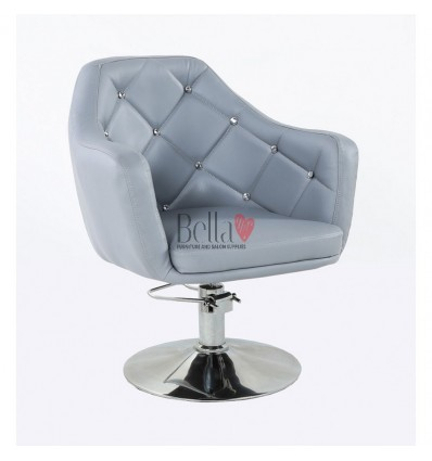 Grey Hydraulic chair for beauty salon. Grey Hydraulic chairs for hairdresser BFHC8517H