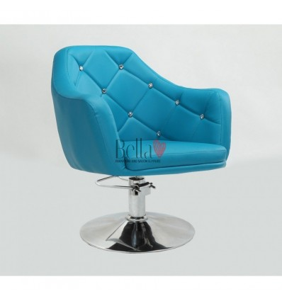 Turquoise Hydraulic chair for beauty salon. turquoise Hydraulic chairs for hairdresser BFHC8517H