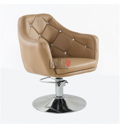 Caramel Hydraulic chair for beauty salon. Caramel Hydraulic chairs for hairdresser BFHC8517H
