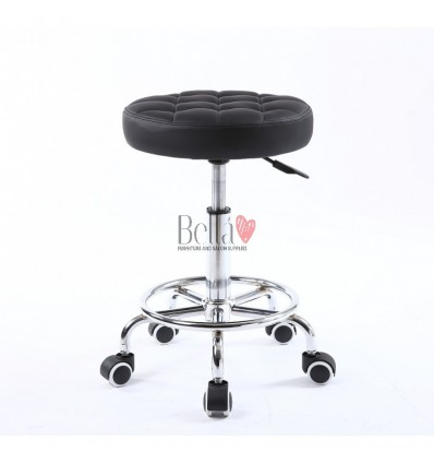 Stools for beauty salons. Stools for hairdresser. Salon stools Ireland. Stool Black BFHC635