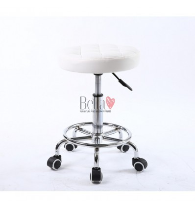 White Stools for beauty salons. White Stools for hairdresser. Salon stools Ireland. Stool White BFHC635