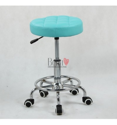 Turquoise Stools for beauty salons. Stools for hairdresser. Salon stools Ireland. Stool Turquoise BFHC635