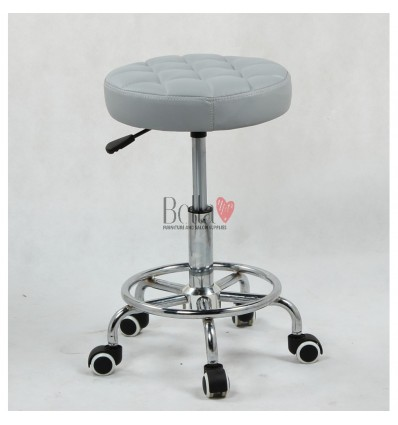 Grey Stools for beauty salons. Stools for hairdresser. Salon stools Ireland, Stool grey BFHC635