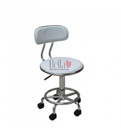Bella Furniture stools. White Stools for beauty salons. Stools for sale. Stool White BFHC8028