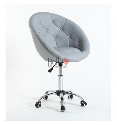 Chair on wheels grey BFHC8516CK