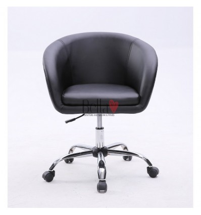 Black Salon chairs on wheels for sale. Chair on wheels Black BFHC8326K