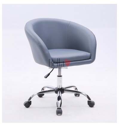 Grey hairs for beauty salon on wheels. Chair on wheels grey BFHC8326K