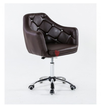 Gas-lift height adjustment. Chair on wheels chocolate BFHC830K
