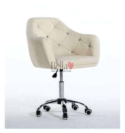 Gas-lift height adjustment chairs for sale. Chair on wheels cream BFHC830K