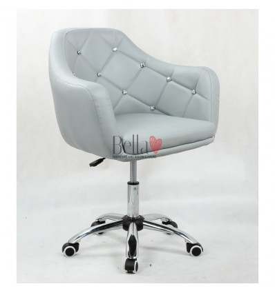 Gas-lift height adjustment chairs for beauty salon. Chair on wheels grey BFHC830K