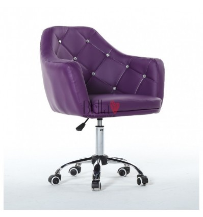 Chair on wheels purple BFHC830K