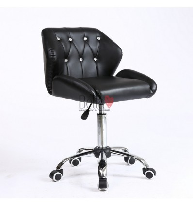 Gas lift chairs for beauty salons in Ireland. Chairs for hairdressers. Chair on wheels Black BFHC949K