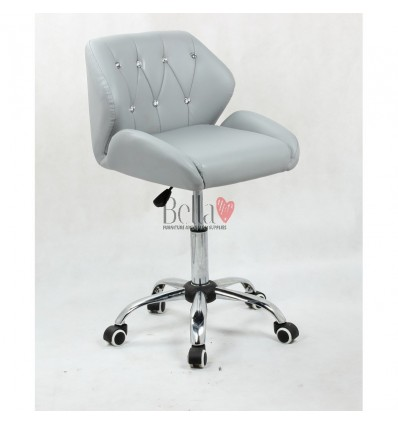 Grey Gas lift chairs for beauty salons in Ireland. Chairs for hairdressers. Grey Chair on wheels BFHC949K