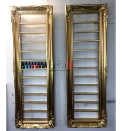 ANTIQUE GOLD BAROQUE NAIL POLISH DISPLAY FRAME - SPACE SAVING STYLE