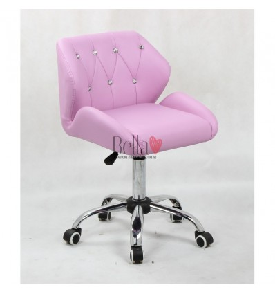 Lavender Gas lift chairs for beauty salons in Ireland. Chairs for hairdressers. Chair on wheels lavender BFHC949K