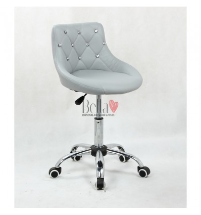 Bella furniture grey salon chairs. bella Chair on wheels grey BFHC931K