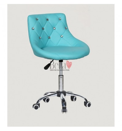 Bella furniture turquoise salon chairs. bella Chair on wheels turquoise BFHC931K
