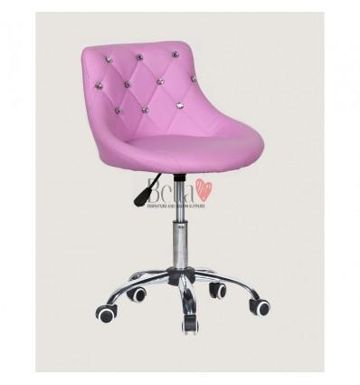 Bella furniture lavender salon chairs. bella Chair on wheels lavender BFHC931K