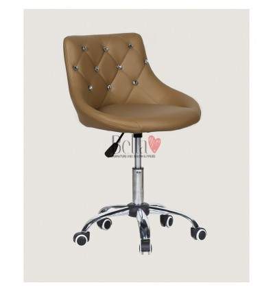 Bella furniture caramel salon chairs. bella Chair on wheels caramel BFHC931K