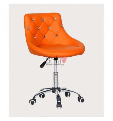 Bella furniture orange salon chairs. bella Chair on wheels orange BFHC931K