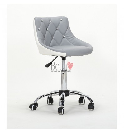 Bella Furniture Grey White chairs on wheels in Ireland. Grey White Chair on wheels Black BFHC931K