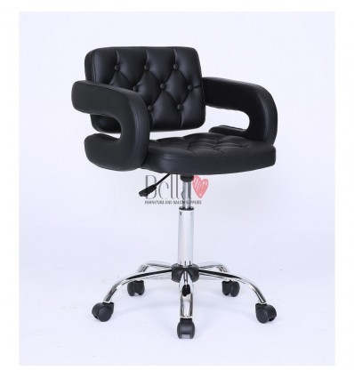 Bella furniture Black chair with wheels. Stylish Black Chairs on wheels bella furniture