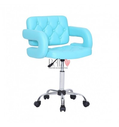 Bells furniture Turquoise chairs on wheels in Ireland. Stylish turquoise Chairs on wheels bella furniture