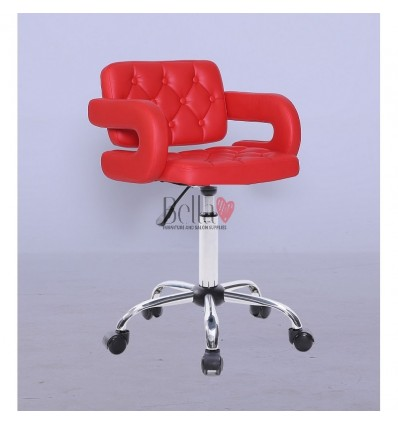 Bella Furniture Red chairs on wheels in Ireland. Stylish red Chairs on wheels bella furniture